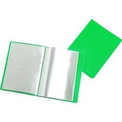 Reliure plastique 20 volets transparents - Vert