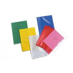 Sachet de 10 pochettes coin polypropylène ouverte sur 2 côtés, couleurs assorties, 22 x 31 cm