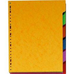 Jeu 6 maxi intercalaires polypropylène 40/100e A4+ 26 x 32 cm