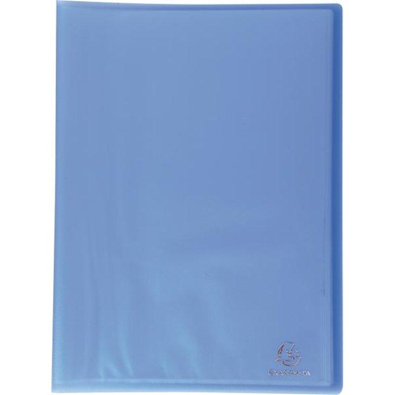 Reliure plastique 30 volets transparents 50 microns - Bleu