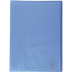 Reliure plastique 40 volets transparents 50 microns - Bleu