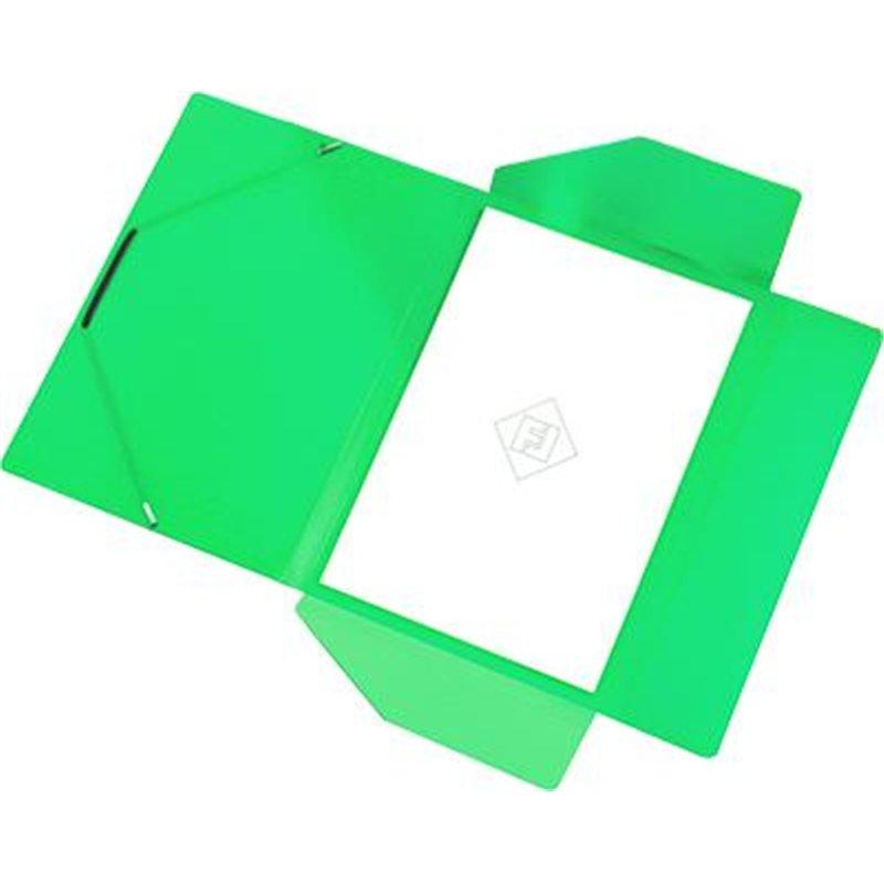 Chemise polypropylène élastique et rabats A4 épaisseur 4/10e - Vert