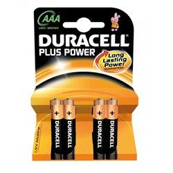 Blister 4 piles bâtons LR03 Duracell plus