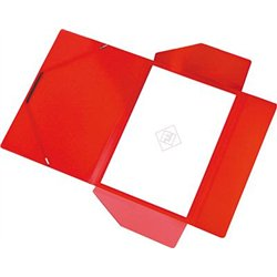 Chemise polypropylène élastique et rabats A4 épaisseur 4/10e - Rouge