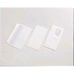 Enveloppe blanche autocollante Siligom 80g, 110x220 mm (Paquet de 50)