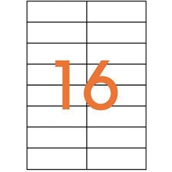 Étiquette adhésive 105x37 mm (Boîte de 1600)