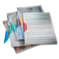 Chemise Colorclip en polypropylène transparent A4, clip 3 mm