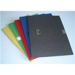 Ensemble de 5 dossiers extensibles à sangle kraft couleurs assorties pour format 24 x 31 cm