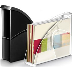 Porte-revues recyclable 25x8x33 cm - Cristal