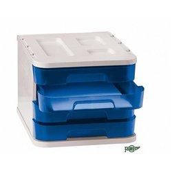 Bloc 4 tiroirs bleu
