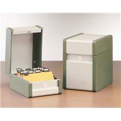 Boîte à fiches métal 14,8x21 cm en hauteur