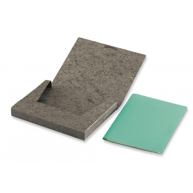 Chemise à élastiques et rabats 24.5 x 32.5 cm, dos de 5 cm, carte lustrée - 7/10e