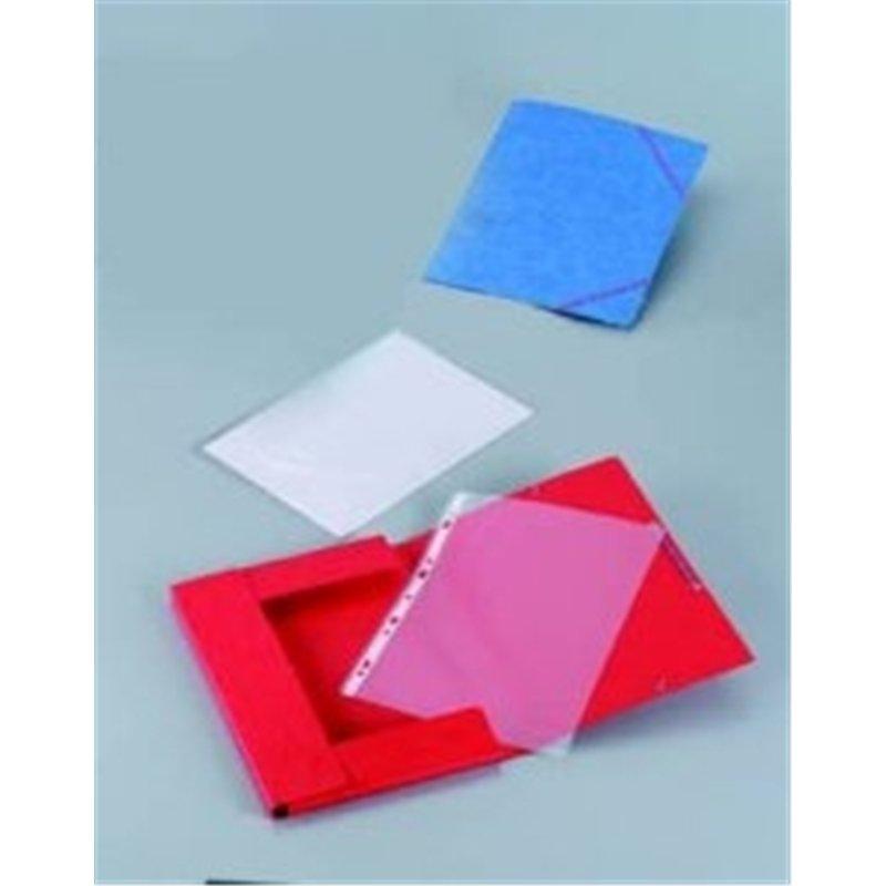 Chemise 390g à élastiques pour format A4 carte lustrée - Jaune (Paquet de 10)
