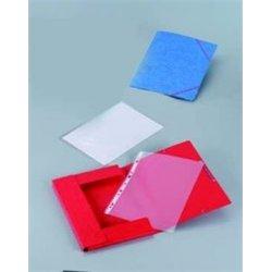 Chemise 390g à élastiques pour format A4 carte lustrée - Rouge (Paquet de 10)