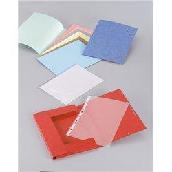 Paquet de 10 chemises A4 à élastiques et rabats pour format A4 assorties. carte lustrée