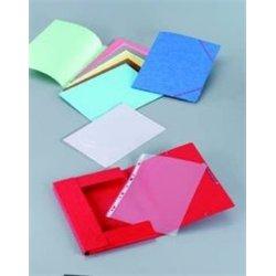 Chemise à élastiques et rabats pour format A4 carte lustrée - Rouge (Paquet de 10)