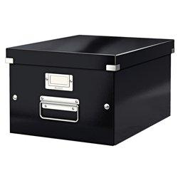 Boîte archivage noir 28.1X20X37 cm pour format A4