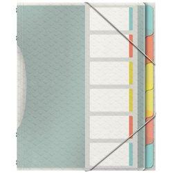 Trieur 6 compartiments 24x33 cm polypropylène couleur