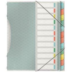 Trieur 12 compartiments 24x33 cm polypropylène couleur