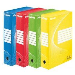 Lot de 10 boites archives dos de 8 cm couleurs assorties pour format A4