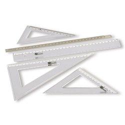 Équerre plastique 60°, graduation 20 cm, hypoténuse 24,5 cm