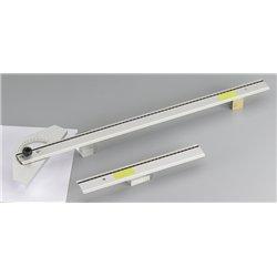 Règle plate aluminium anti-dérapante pour couper au cutter dimension : 30 cm