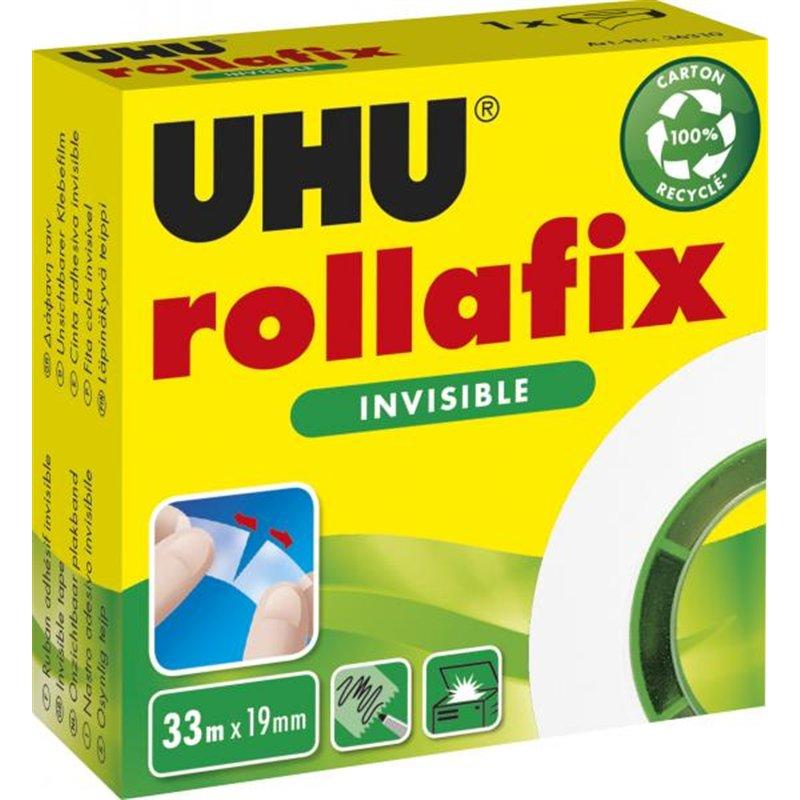 Rollafix Rouleau adhésif invisible 19 mm x 33 m UHU