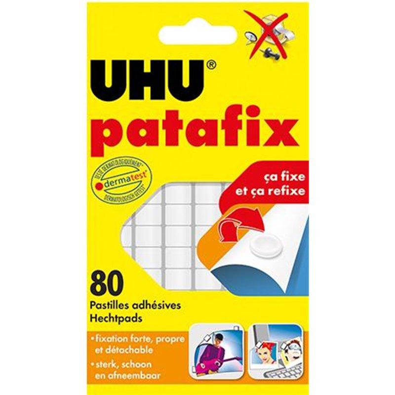 Etui 6 bandes Patafix blanche UHU 14 x 1 cm