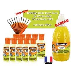 Biogum ensemble de 10 flacons 60 ml CLÉOPÂTRE avec applicateur + 1 flacon 570 g gratuit