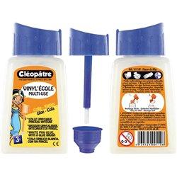 Flacon 80 ml colle vinylique avec bouchon pinceau Cléopâtre