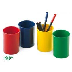 Pot à crayons plastique forme ronde