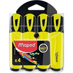 Gros fluo MAPED (Pochette de 4) - jaune