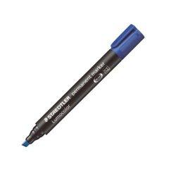 Marqueur permanent pointe biseautée Staedtler  - bleu