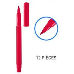 Feutres pointe moyenne nylon 1 mm - Rouge