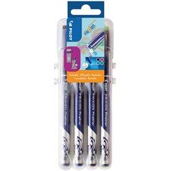 Pochette 4 stylo-feutres FriXion pointe 1.3 mm