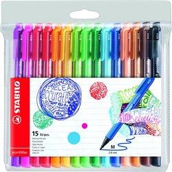 Pochette 15 feutres PointMax Stabilo couleurs assorties