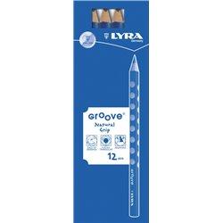 Crayon graphite Lyra Groove Maxi (Etui de 12)