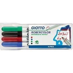 Pochette 4 feutres Robercolor Giotto pointe fine