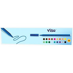 Feutre grosse pointe Visacolor Bic (Boîte de 12) - bleu foncé