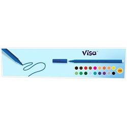 Feutre grosse pointe Visacolor Bic (Boîte de 12) - bleu clair