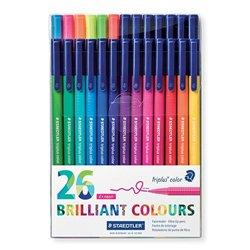 Etui 26 feutres assortis Triplus Color Staedtler dont 6 fluo