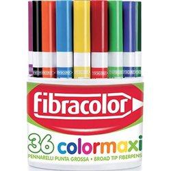 Pot 36 feutres à colorier Color Maxi pointe 3 mm
