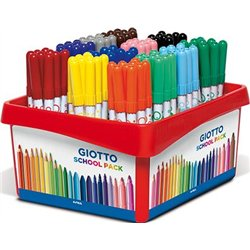 Schoolpack 108 feutres Giotto Turbo Advanced couleurs assorties