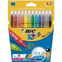 Pochette 12 feutres encre lavable pointe 2.8 mm  Bic Kids.