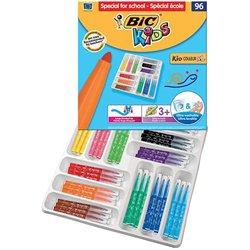 Classpack 96 feutres grosse pointe Bic Kids XL