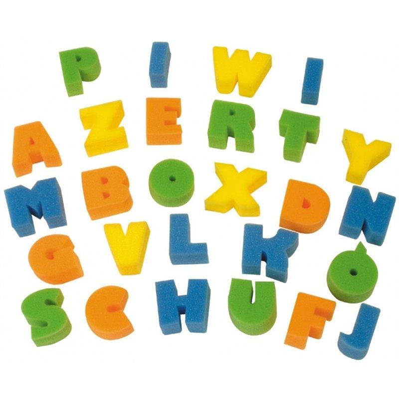 Sachet lettres et chiffres en mousse (35 pièces) 45x40 mm