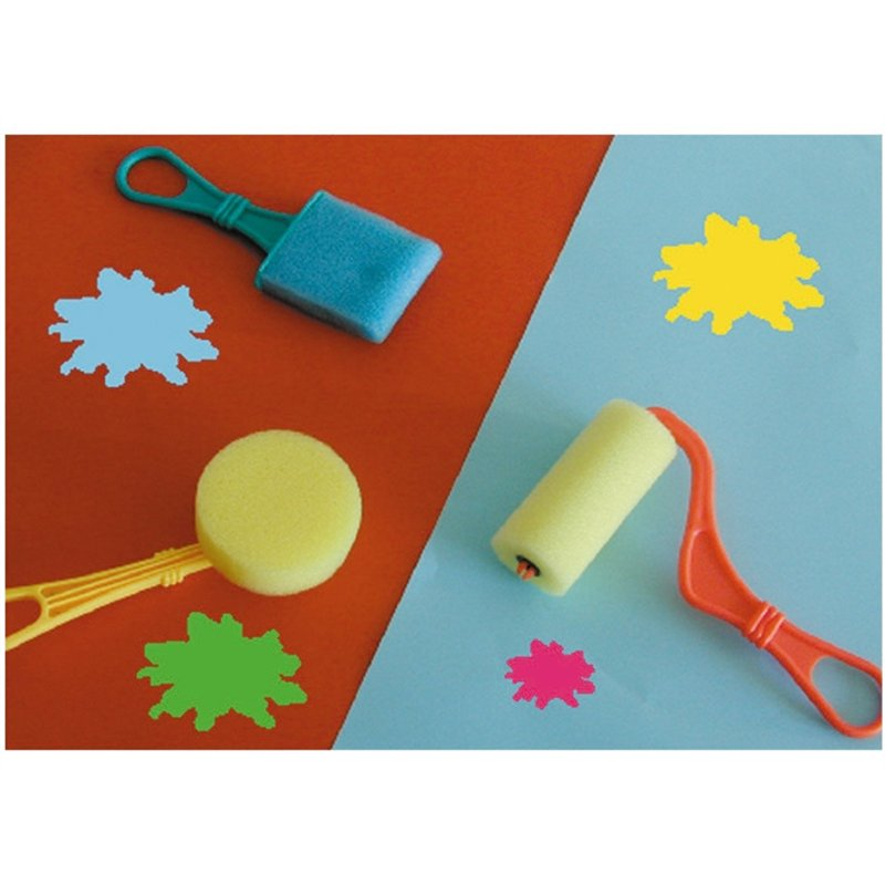 Sachet d'accessoires à peindre en mousse