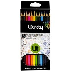 Boite 12 crayons couleurs Wonday 18 cm
