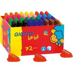 Schoolpack 72 crayons gros module Giotto Bébé