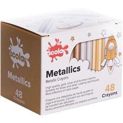 Boîte 48 craies métallique à la cire